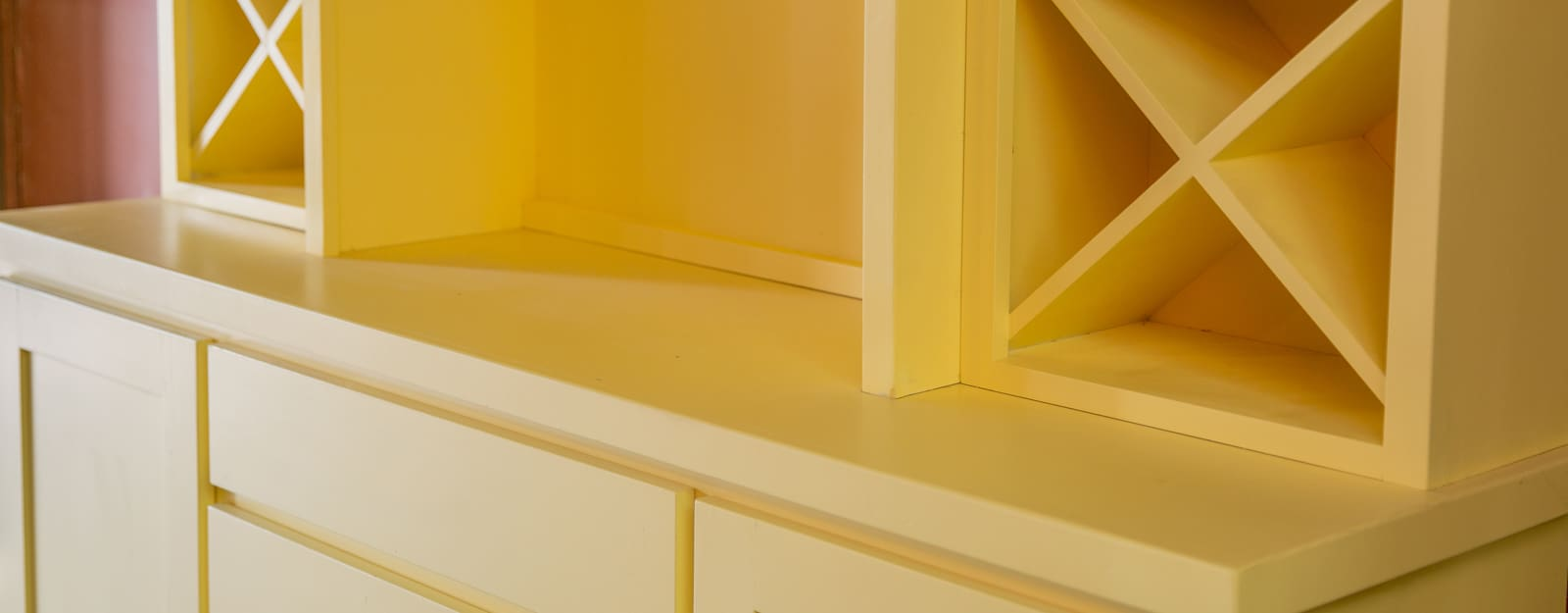 Yellow Cabinet Close